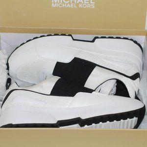 Michael Kors Optic White/Black Cosmo Slip On Shoes